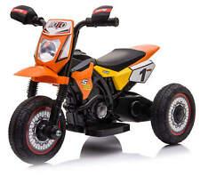 Moto Motocicletta Elettica per Bambini Cross Arancio ruote in Gomma Minimoto 6V