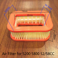 Air Filter For Chinese Chainsaw Parts 45cc 52cc 58cc 4500 5200 5800 Replacement