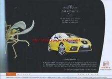 "Seat Leon ""The Mosquito RIP"" 2007 Magazine Advert #232"
