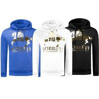 New Men Hoodie Robbery Sweater Gold Foil Pullover Embossed Long Sleeve