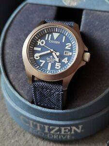 CITIZEN ref BN0118-12L Tough Eco-Drive Titanium case watch Titanio montre uhr