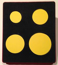 Sizzix Large Red Original Die Cutter ~ CIRCLES ~ Geometric Shape Cuts 4 Circles