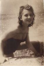 Isabelle Corey Actrice française Cannes Photo Presse Vintage argentique 1956