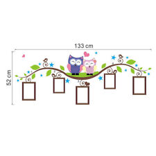 the cute colorful owl Tree Wall Stickers Removable Vinyl Wall Decal Kids Decor
