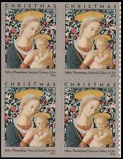 US 5143 Christmas Florentine Madonna & Child forever block (4 stamps) MNH 2016