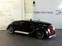 Danbury Mint 1936 Ford Deluxe Hot Rod Convertible 1:24 Scale Diecast Model Car