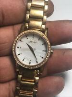 Ladies Rose Gold Tone DKNY NY-8121 Analog Watch