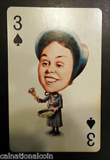 Politicard Julie Nixon Daughter Three of Spades Playing Card 1971
