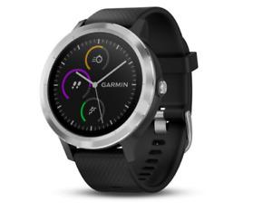 Garmin VIVOACTIVE 3 30.4mm Stainless Steel Smartwatch - Black (010-01769-01)