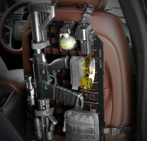 Car Seat Tactical Gun Rack Mount Holster Organiser Molle Vehichle Gun Mount
