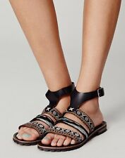Free People Exclusive Balkan Tapestry Black Sandals EUR 38 US 8 Sold Out $168.00