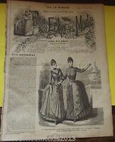 ANCIENNE REVUE LE PETIT ECHO DE LA MODE DE 1888 Nombreuses Gravures n°12