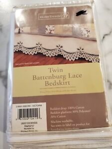 Home Trends Twin Battenburg Lace Bedskirt Ivory