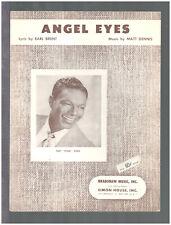 Angel Eyes 1953 NAT KING COLE Vintage Sheet Music