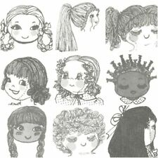 14 different styles of doll hairdo's to make from yarn for your cloth rag doll