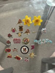 Joblot Vintage Old Charity Pin Badges & Arsenal Fc,  2014, Red Cross Badge,