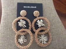 BaubleBar Miyana hoops pierced earring silver/gold NWT