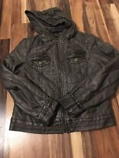 Miss Sixty Faux Leather Jacket Gray Size S/m? See Measurements