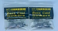 (2) Hi-Tech Tackle Bass Cast Sinkers Size: 1Oz. 2Pcs