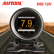 AUTOOL X60 OBD 12V Digital Turbo Boost Pressure Meter Speed Alarm Multi-Function