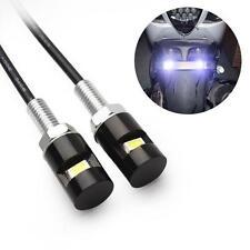 2 X Perno Tornillo/Número De Matrícula Luces LED Blanco Coche Bici del motor