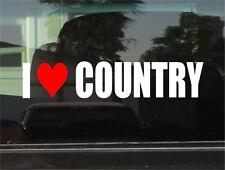 I LOVE COUNTRY  MUSIC  WINDOW/BUMPER STICKER