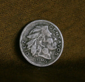 1964 10 Centavos Colombia World Coin Chief Calarca KM212.2 ten cents Diez