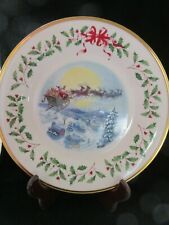 Lenox 2002 Santa'S Ride Holiday Annual Collector Christmas Plate 12Th In Series