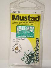 1 Packet of Mustad Needle Sneck 3331NPGR Chemically Sharpened Fishing Hooks