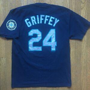 Vtg Ken Griffey Jr T SHIRT Seattle Mariners jersey junior majestic hat jacket L