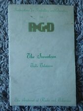 More details for vintage instruction booklet for operating the rgd seventeen table television