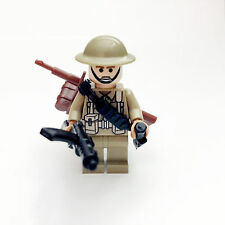 Custom Lego WW2 UK 8th Army Africa Soldier Minifigure Free Shipping SNUK01