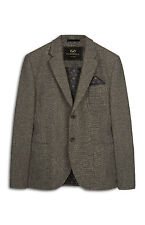 MENS FARRELL GREY TEXTURED WOOL BLAZER JACKET BRITISH VINTAGE GENUINE BNWT XS
