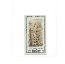 2013 TOPPS ALLEN & GINTER MINI FAMOUS FINDS NAG HAMMADI LIBRARY