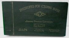 GENERAL DYESTUFF CORPORATION Dyestuffs for Coloring Paper Making Industry Book