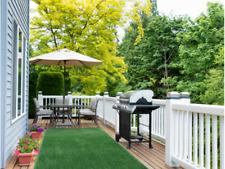 Indoor/Outdoor Green Artificial Grass Turf Area Rug Patio Back yard