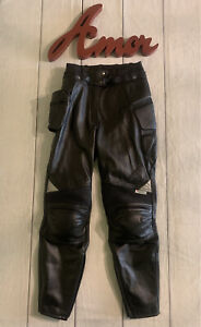 FIRSTGEAR Women's Size 6 Black Padded Leather Flightline Motorcycle Pants