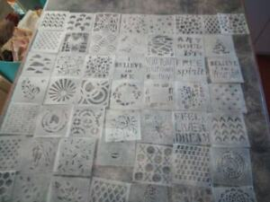 Fifty (50) Stencils, -100 x 100mm stencils MAY BE DIFFERENT FROM PHOTO