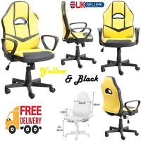 Gaming Racing Executive Office Home Computer Desk Chair PU Leather Swivel Seat
