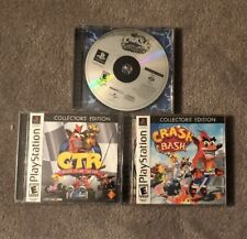 Crash Bandicoot: Collectors' Edition Playstation 1 Cases Slightly Damaged