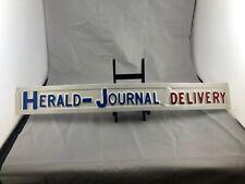 Herald Journal Newspaper Sign Syracuse NY Plastic