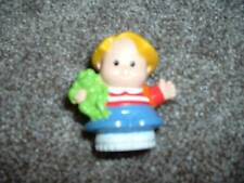 Kids Fisher Price Little People Eddie Shool Frog Toy Replacement Blonde Hair Boy