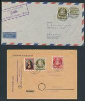 BERLIN 1951, Mi. 82-84 Brief, neun frankierte Belege inkl. EF, MeF…!!!
