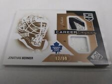 Jonathan Bernier 2014-15 SP Game Used Career Legacy Dual Patch /99 Maple Leafs