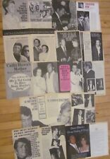 Dean Martin, Lot of NINE Four Through Seven Page Vintage Clippings