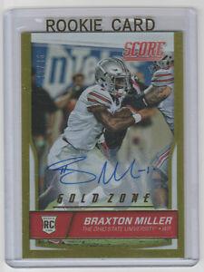 BRAXTON MILLER Ohio State SIGNED 2016 Score GOLD ZONE Autograph SP RC AUTO #/35