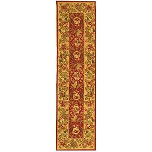 Safavieh Chelsea Red / Ivory Wool Runner 2' 6 x 12'