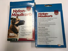 Trixie Hunde Maulkorb Nylon schwarz Hundemaulkorb Maulschlaufe Gr. 2 S M