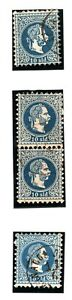 CYPRUS AUSTRIA PO ABROAD Stamps{4} Larnaca Postmarks Used Album Page YP71
