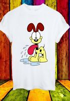 Odie Garfield Dog Beagle Lyman Jon Arbuckle Cartoon Men Women Unisex T-shirt 842